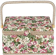GOTOTO Sewing Box Sewing Basket with Handle,