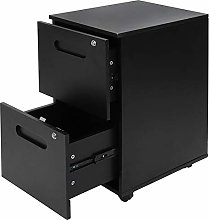 GOTOTOP 2 Drawer Wheeled File Cabinet Mobile