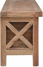 GOTOTOP 3 Drawers TV Cabinet,120x30x40 cm Mahogany