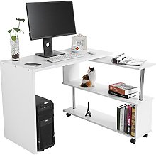 GOTOTOP 360 Degree Rotating Computer Desk with
