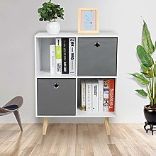 Gototop 4-Cube Storage Cabinet with 2 Drawers in