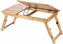 GOTOTOP Bamboo Bed Desk Laptop Sofa Bed Wooden