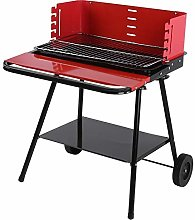 GOTOTOP Barbecue Grill with Wheels, Stainless