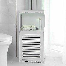 GOTOTOP Bathroom Cabinet Storage Cupboard Free