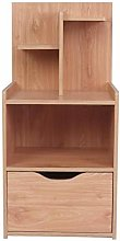 GOTOTOP Bedroom Single Drawer Nightstand Shelf