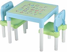 GOTOTOP Children's Table & 2 Chairs Set, ABC