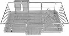 GOTOTOP Dish Drainer, Metal Dish Storage Rack