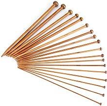 Single Pointed Carbonized Knitting Needle 18 Sizes Bamboo Knitting Needles Set Samfox Knitting Needles