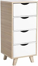 GOTOTOP Modern Floor Cabinet Chest Drawers Wooden