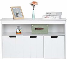 GOTOTOP Modern Sideboard with 3 Doors and Shelf,