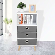 GOTOTOP Multilayer Bookcases Bedside Side Table
