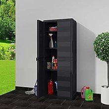 GOTOTOP Outdoor Cabinet 2 Doors, Garden Cabinet