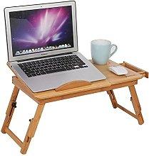 GOTOTOP Portable Folding Bamboo Bed Laptop Desk