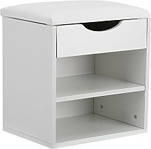 GOTOTOP Shoes Storage Bench,2 Tiers Home Entryway