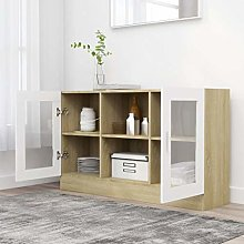 GOTOTOP Sideboard with 2 Compartments and 2 Doors,