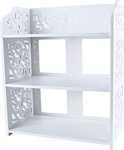 GOTOTOP Simple Shoe Rack Bookcase 3 Shelves/4
