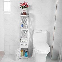 GOTOTOP Stylish Bathroom Shelf White Bathroom