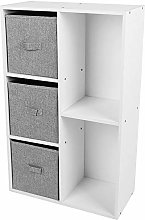 GOTOTOP White 5 Cube Bookshelf Bookcase Display
