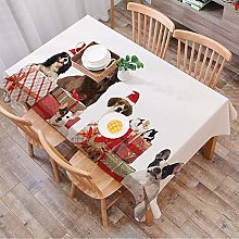 GOUGU Tablecloth Rectangle Table Cloth Cotton