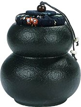 [Gourd Black] Ceramic Tea Canister Portable Coffee