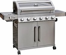 Gourmet Gas & Charcoal Stainless Steel BBQ - 6