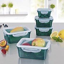 GOURMETmaxx BPA free Food Storage Container Set Airtight Lunch box set 36 pc
