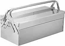 GOVD Metal Tool Box, Cantilever Stainless Steel