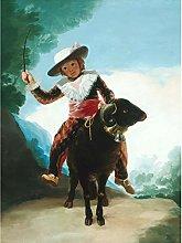 Goya Boy On A Ram Painting Large Wall Art Print