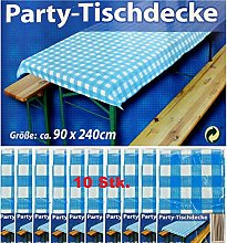 GP Party Tablecloth Blue White