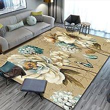 Gpink European Pastoral Flower Series Carpet