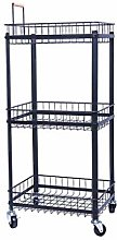 GPWDSN Kitchen Bathroom Shelf,3-Tier Basket Stand
