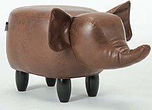 GQQ Bar Stool Chair Change Shoes Creative Elephant