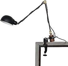GQQ Black Long Arm Rocker Mechanical Desk Lamp,