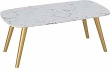 GQQ Desk,Artificial Marble Coffee Table, Large