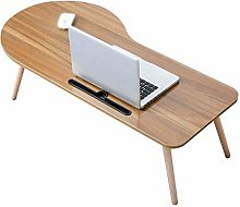 GQQ Desk,Bed Tray Table, Wooden Foldable Dining