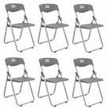 GQQ Desk Chair,6Pcs Plastic Folding Chair Seat