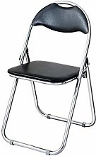 GQQ Desk Chair,Folding Chair with Leather Effect