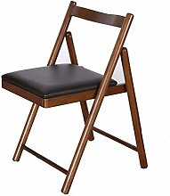 GQQ Desk Chair,Rubber Wood Folding Chair Simple