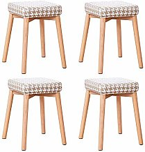 GQQ Desk Chair,Solid Wood Stool Table Stool Dining