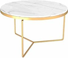 GQQ Desk,Small Round Table, Metal Accent Table for