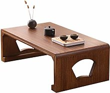 GQQ Desk,Wooden Low Table, Retro Style Japanese