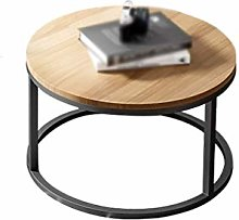 GQQ Desk,Wooden Small Round Table, Multifunction