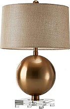 GQQ Fashion Table Lamp Bronze Metal Ball Table