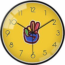 GQQ Home Wall Clock Aa Battery Operated Non