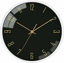 GQQ Home Wall Clock Battery Operated Silent Non
