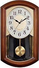 GQQ Home Wall Clock Pendulum Chime Vintage Clock