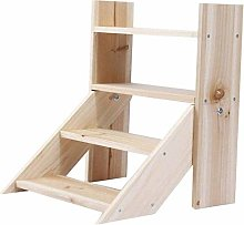 GQQ Ladder Step Stool Flower Stand 4 Tier Step