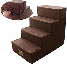 GQQ Ladders,Pet Ramp Stairs Brown Extra Tall Pet