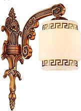 GQQ Vintage Wall Lamp Copper Wall Light Living