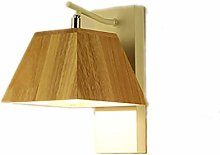 GQQ Vintage Wall Lamp Log Wood Lighting Creative